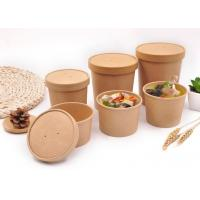 China Branded Paper Soup Cups Food Containers Disposable Bowls For Hot Soup wholesale