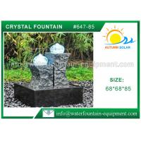 China Carved Granite backyard Water Fountains Glass Crystal Balls For Decoration wholesale