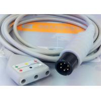 Buy cheap Gray Color 3 Lead Ecg Monitor Cable Excellent Compatibility CE Ul Iso from wholesalers