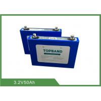 Buy cheap 3.2V 50Ah Rechargeable Lifepo4 Battery Cells with low Self Discharge rate from wholesalers