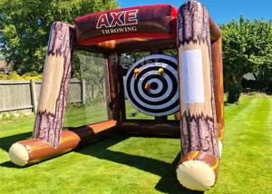 China Interactive Inflatable Battle Axe Game / Inflatable Flying Axe Throwing Challenge Carnival Game wholesale