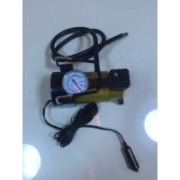 China Silver And Yellow Car Tyre Pressure Pump , Heavy Duty Power 12 Volt Air Compressor wholesale