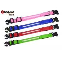 China Night Safety Flashing Glow USB Rechargeable LED Dog Collar Leashes Pink / Blue / Red on sale