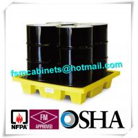 Quality HDPE Chemical Spill Containment Trays Leak Proof For 4 Oil Drum for sale