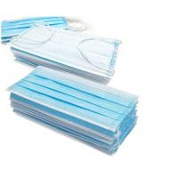 China Blue 3 Layer Medical Face Mask High Filtration Efficiency  With Ear Loop wholesale