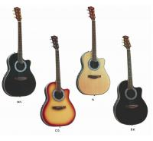 China Senior Round Back Cutaway Spruce Electric Acoustic Guitar / Western Guitar Professional 3 Band AF4120CR-EQ2 wholesale