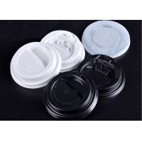 China PP Plastic Paper Cups Lids Biodegradable With Dome / Flat Shapes wholesale