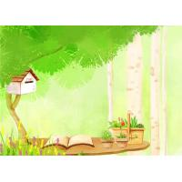 Quality Cartoon Picture Green Bamboo Fiber Board Healthy and Livable for Living Room for sale