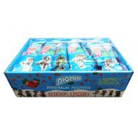 China Cow shape stawberry and milk flavor lollipop with Fluorescent sticks wholesale
