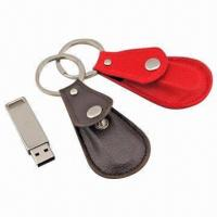 China Novelty Leather USB Flash Drive, Customized Logo File Accepted, Leather Colors Available wholesale