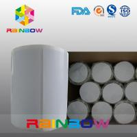 China No Print White / Blank Paper Roll Plain Rectangle Shrink Sleeve Labels Custom Size wholesale