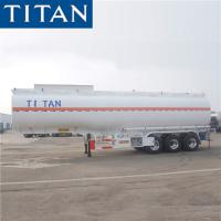 China Tri axle 35cbm stainless steel water tanker trailer for sale-TITAN on sale