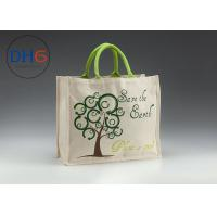China Gray Natural Custom Cotton Tote Bags Easily Packed Machine Cutted Branded Logo wholesale