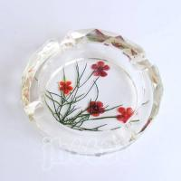China crystal ashtray with flower amber,home decor,furnishings,decoration,crystal crafts wholesale