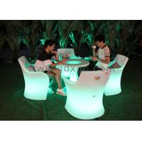 China Customized Outdoor LED Furniture Tables and Chairs for Garden / Patio wholesale
