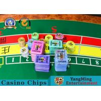 Buy cheap Customized Color 13.56Mhz Rfid Poker Chips Cricular Code 45 / 50 / 55mm from wholesalers