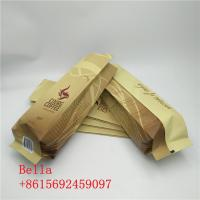 China Side Gusset Coffee Bag Plastic Pouches Packaging Zipper Top For 250g 1kg Coffee Beans wholesale