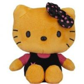 China 20cm Lovely Orange Hello Kitty Cartoon Stuffed Plush Toys For Collection wholesale