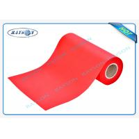 China Red Non Woven Polypropylene Fabric Anti - Bacterial Customer Label wholesale