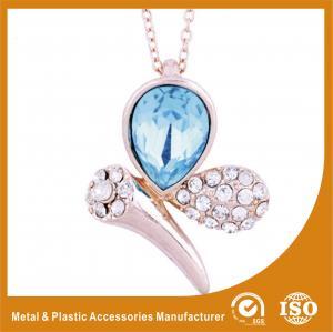 China Wedding Silver Necklace Designs Simple Diamond Necklace Zinc Alloy on sale