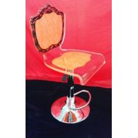 Quality Adjustable Orange Modern Acrylic Furniture / Acrylic Chair , Laser Engraved for sale
