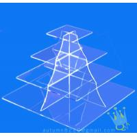 China CD (105) 4 tier acrylic square cake stand wholesale