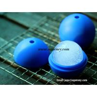 China Soccer ball silicone mold ice ball cube tool, silicone ice ball tray wholesale