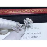 China 18K White Gold Van Cleef And Arpels Butterfly Ring With 70 Diamonds wholesale
