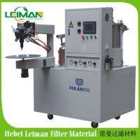 China PLAB-2 Two Compounds Filter End Cap Gluing Machine on sale