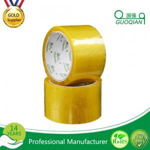 China Carton Adhesive Transparent BOPP Packing Tape Customized 48mmx66mm Width wholesale
