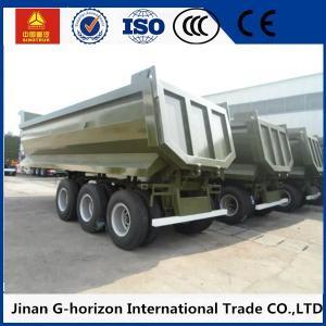 China High Strength 3 Axles 70 Tons Steel Hydraulic Rear End U shaped Dump Semi Trailer wholesale