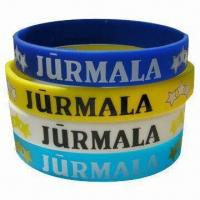 Buy cheap Promotional Silicone Wristbands, Available with Embossed, Debossed or Printing Logos from wholesalers