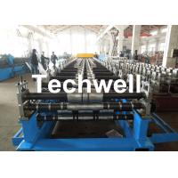 China Metal Roof Panel Roll Forming Machine / Double Layer Forming Machine With Hydraulic Cutting wholesale
