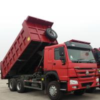 China Sinotruk Heavy Duty 6 Wheel Dump Truck Horsepower 251-350hp Red Color on sale