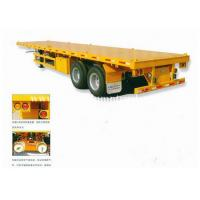 China 13 meters gooseneck 40ft flatbed container transport trailer / two or three axles container chassis wholesale