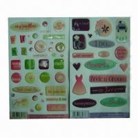 China Dome Epoxy Stickers, Easy to Apply and Remove, Eco-friendly, OEM and ODM Orders are Accepted wholesale
