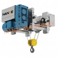 China 2T Ultra Low Headroom Hoist NHA Wire Rope Electric Power Hoist For Workshop wholesale