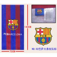 China Barcelona Sport Towel football sport towel football club towel beach towel soccer towel wholesale