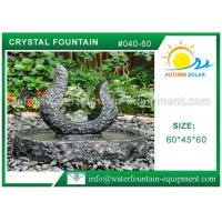 China Rolling Granite Ball Fountain , Stone Sculpture Outdoor Garden Fountains wholesale
