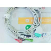 China Gray Color GE One Piece Ecg Patient Cable For Patient Monitoring Devices wholesale