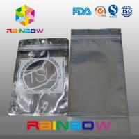 China Three Side Seal Front Transparent Back Foil Anti Static Bag With Zipper And Tear Notch wholesale