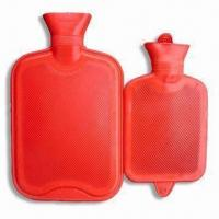 China Hot Water Bottles, Made of Rubber, Measures 400 to 3,000cc wholesale