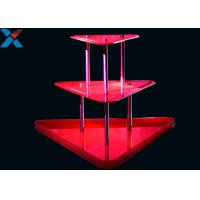 China Crystal Clear Acrylic Display Stands 3 Layer Lucite Wedding Wine Stand wholesale