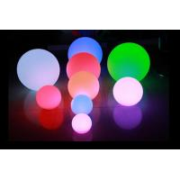 China IP65 16 Color Changing LED Night Light Battery Operated / LED Floating Ball wholesale