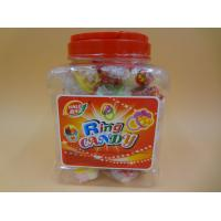 China Ring Toy Compressed Candy With Dextrose Yellow / White / Green Color wholesale
