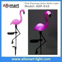 China Pink Flamingo Solar Stake Light Solar Garden Decor Lights Solar Path Lights wholesale