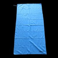 China Sun Shine China sublimation blue microfiber beach towel with loop wholesale