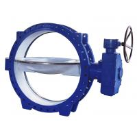 Double Eccentric Flanged Butterfly Valves stainless steel , Tri - Eccentric  Butterfly Valve