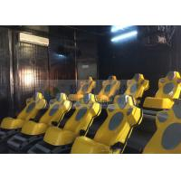 China Interaction Reality 7D Movie Theater With Yellow Motion Seats wholesale