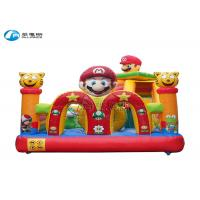China new design small inflatable super mario slide bouncy castle with slide wholesale